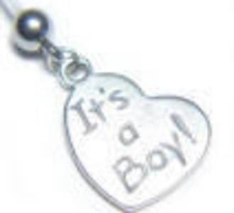 It's A Boy Silver Heart