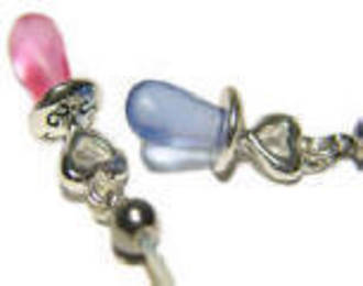 Boy or Girl Frosted Pacifier