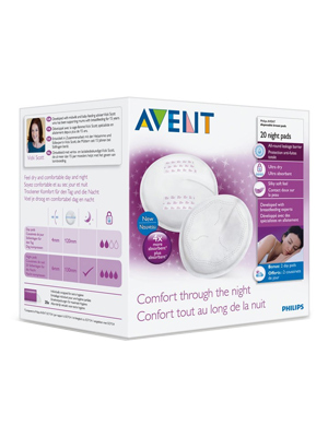 Avent breastpads night