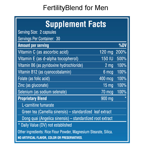 Fertiltyblend Men Ingredients