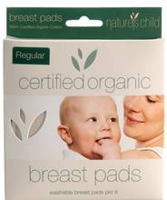 Natures Child Organic Reuseable Cotton Breastpads | Size Large